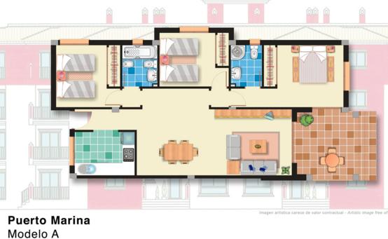Apartamentos g lujo puerto marina juangalo for Apartamentos puerto marina